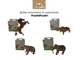 3D-ПАЗЛ «Медведь»/ 3D-ПАЗЛ «Лошадь»/ 3D-ПАЗЛ «Носорог»/ 3D-ПАЗЛ «Слон»