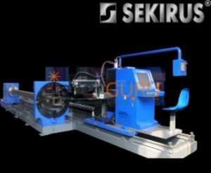 8-осевой плазменный 3D станок для резки профиля, рельсов, круглых и квадратных труб SEKIRUS P1711M-SQ12000