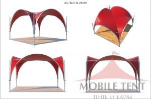 Арочный шатер MOBILE TENT  3,5 х 3,5 - 12,25
