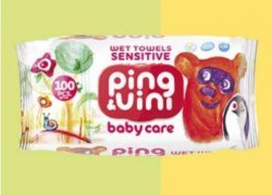Детские влажные салфетки Ping&Vini