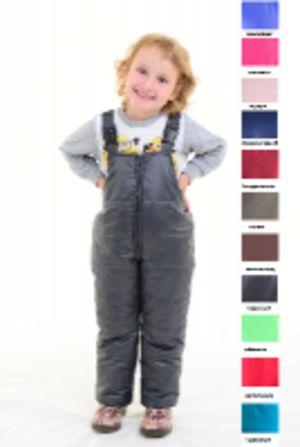 Детский утепленный полукомбинезон из мягкой курточной глянцевой ткани