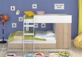 """Двухъярусная кровать для детей """"Golden Kids-2"""""""