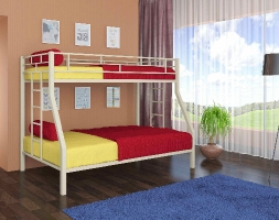 """Двухъярусная металлическая кровать для детей """"Милан"""""""