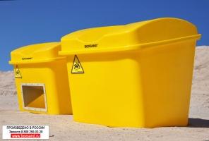Евро контейнер для песка 300 литров. (0,3 куб.м.) с дозатором/без дозатора