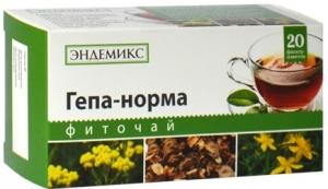 Фиточай ТМ «Эндемикс» «Гепа-норма»