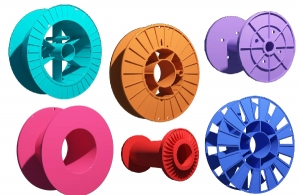 Катушки пластиковые для проволоки, кабеля, эмальпровода