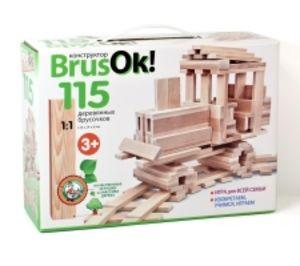 Конструктор деревянный BrusOк! 115 элементов