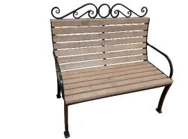 Кованая скамейка 2-х местная (эконом)
