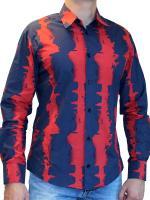 Красно-синяя рубашка