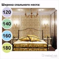 Кровать «Орхидея» с ортопедическим основанием.