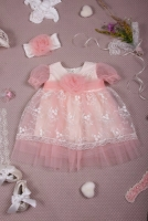 Кружевное платье для девочки цвета экрю Jolly baby