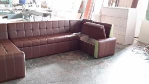 Кухонный П-образный  диван Надежда