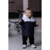 Куртка для мальчика, темно-синяя/белая
