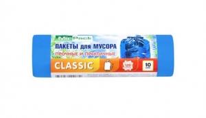 """Мешки для мусора 120 литров MIRPACK """"Classiс"""" 12 мкм голубые"""