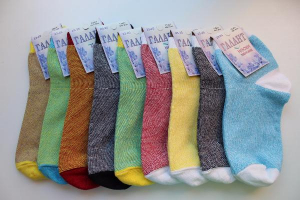 Носки женские с лайкрой в полоску