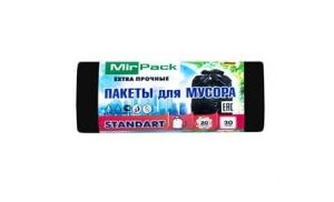 Пакеты для мусора 20 литров ПНД Standart, черные