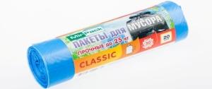"Пакеты для мусора рулон 60л,20 шт. MIRPACK - ""Classic"" голубые"