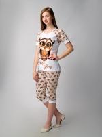 Пижама женская Филимон - бежевая