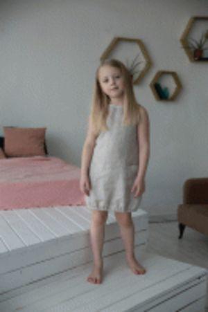 Платье для девочки, Льняное лето