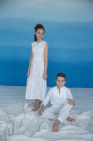Платье подростковое,  Льняное лето (состав 100% лен)