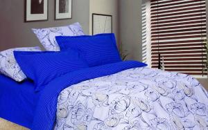 Постельное белье 2-х спальное с европростыней из поплина