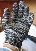 Рабочие перчатки х/б без ПВХ 7 класса 10 пар (3 нитки)