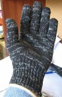 Рабочие перчатки х/б без ПВХ 7 класса 10 пар (6 нитка)