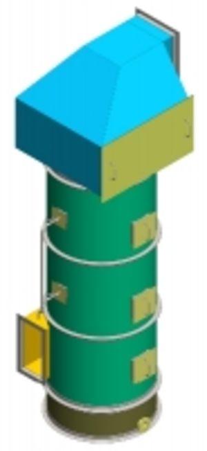 Скруббер, аппарат мокрой газоочистки