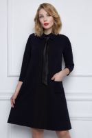 Стильное темно-синее платье «Зимняя фантазия»