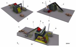 Сушильный комплекс для дров производительностью 13 м3/смена
