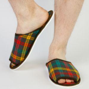 Тапочки мужские открытые (шотландка)