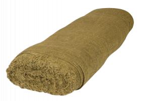 Ткань упаковочная (мешковина), 420+/-25 ширина 106 см (состав: 50% лён 50% джут) рулон 100 метров
