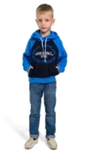 Толстовка трикотажная М-570 с капюшоном для мальчика