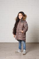 Зимнее пальто для девочки ИВВИ