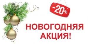 Новогодняя акция, скидка 20%