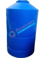 2000 л Пластиковая емкость для воды цилиндрическая