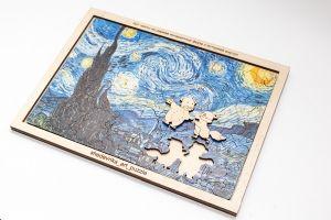 """Арт пазлы- мозаика """"Звездная ночь"""" Ван Гога А4 в Мишках с Лисичкой"""