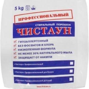Бесфосфатный стиральный порошок ЧИСТАУН ПРОФЕССИОНАЛЬНЫЙ ДЛЯ БЕЛОГО 5 кг