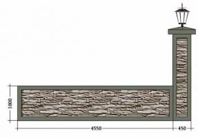 Бетонные заборы. Высота секции 1000 мм