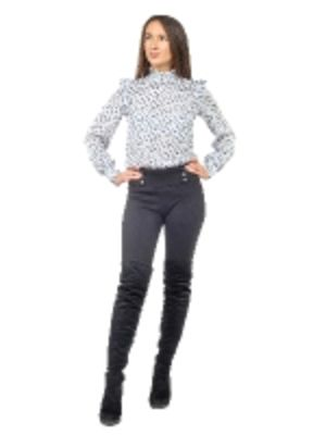 Блуза молодёжная с воротником-стойкой и рюшами