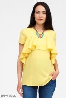 Блузка желтая для беременных и кормящих