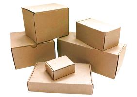 Бурые почтовые коробки А, Б, В, Г, Д, Е, Ж