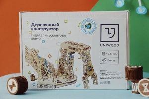 """Деревянный конструктор """"Гидравлическая рука UNIMO"""""""