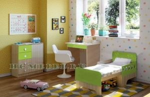 Детская мебель ЖИЛИ-БЫЛИ, комплект-2 зеленый