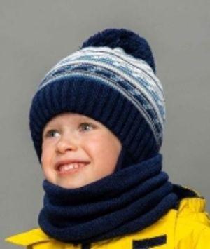 Детские зимние комплекты: Шапки+снуды+шарфы для мальчиков от ТМ Selfiework