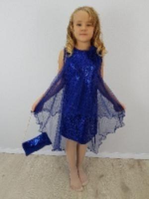 Детское нарядное платье - Флора пайетки (оптом от производителя)