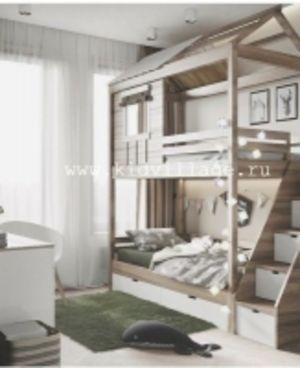 """Двухъярусная кровать-домик """"Пенсильвания"""""""