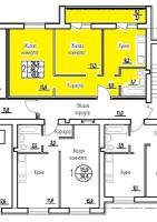 Двухкомнатная квартира в новостройке 46.7 кв.м, большая лоджия, индивидуальное отопление