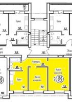 Двухкомнатная квартира в новостройке 47.7 кв.м., индивидуальное отопление, евроремонт