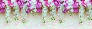 Фартук для кухни из АБС пластика. Нежность орхидеи